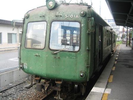 自転車ごと乗れる熊本電鉄1
